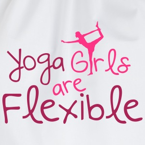 Yoga girls are flexible Magliette - Sacca sportiva