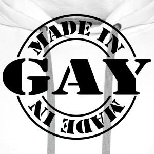 made_in_gay_m1 Tabliers - Sweat-shirt à capuche Premium pour hommes