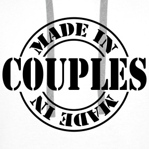made_in_couples_m1 T-shirts - Premiumluvtröja herr