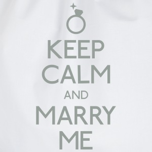 keep calm marry me blijf kalm met me trouwen T-shirts - Gymtas