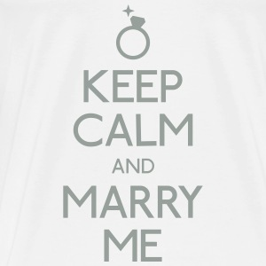 keep calm marry me holde ro frieri Skjorter - Premium T-skjorte for menn