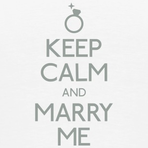 Keep Calm marry me Flaschen & Tassen - Männer Premium T-Shirt