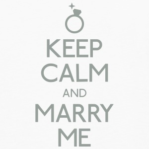 keep calm marry me holde ro frieri Kopper & flasker - Premium langermet T-skjorte for menn
