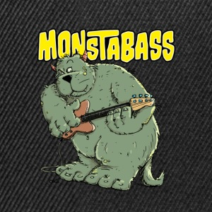 Monster with Bassguitar Long sleeve shirts - Snapback Cap