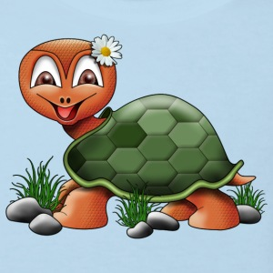 Flower Power Turtle - Kinder Bio-T-Shirt