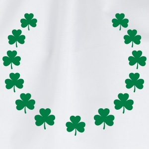 St. Patrick´s Day Gift Shamrock wreath lucky charm T-Shirts - Drawstring Bag