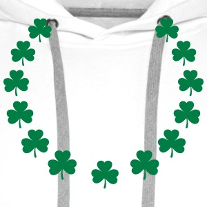 St. Patrick´s Day Gift Shamrock wreath lucky charm T-Shirts - Men's Premium Hoodie
