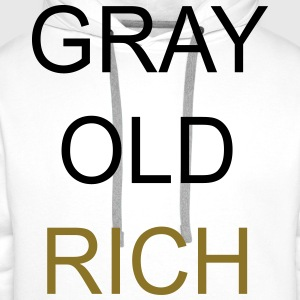 Gray Old Rich Tee shirts - Sweat-shirt à capuche Premium pour hommes
