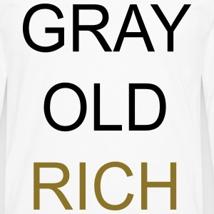 Gray Old Rich Tee shirts - T-shirt manches longues Premium Homme
