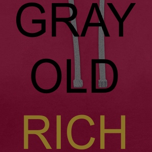 Gray Old Rich Bags & Backpacks - Contrast Colour Hoodie