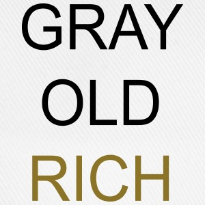 Gray Old Rich T-Shirts - Baseball Cap