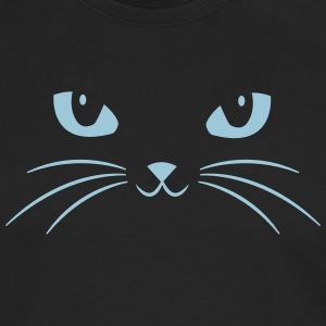 Cat Face With Big Eyes Tee shirts - T-shirt manches longues Premium Homme