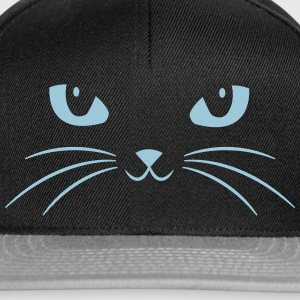 Cat Face With Big Eyes Sweat-shirts - Casquette snapback