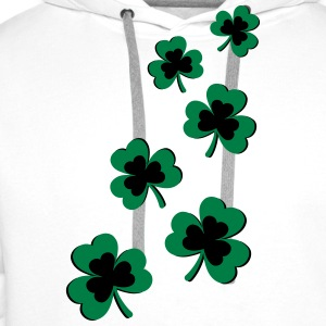St. Patrick`s Day Shamrock Clover Gift Lucky Charm T-Shirts - Men's Premium Hoodie