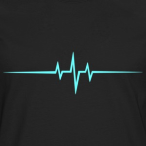 Music Heart rate Dub Techno House Dance Trance Tee shirts - T-shirt manches longues Premium Homme