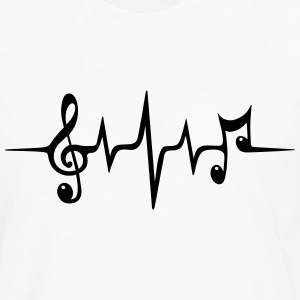 Heart rate pulse music note clef Electro Classic T-Shirts - Men's Premium Longsleeve Shirt