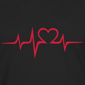 Heart rate music Dub Techno House Dance Electro T-Shirts - Men's Premium Longsleeve Shirt