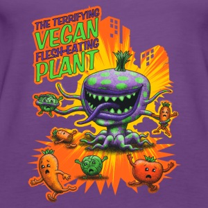 The Terrifying Vegan Flesh Eating Plant T-shirts - Dame Premium tanktop
