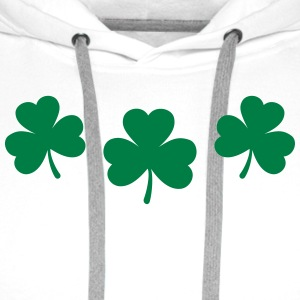 St. Patricks Day Shamrock Clover Lucky Charm Paddy Long Sleeve Shirts - Men's Premium Hoodie