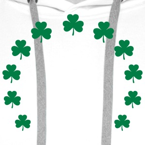 Shamrock wreath lucky charm St. Patrick´s Day gift T-Shirts - Men's Premium Hoodie
