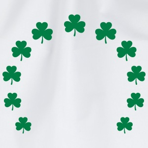 Shamrock wreath lucky charm St. Patrick´s Day gift Hoodies & Sweatshirts - Drawstring Bag