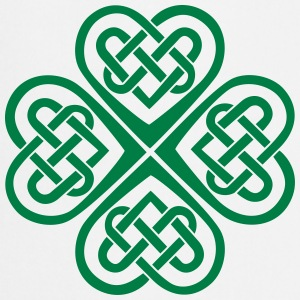 St Patricks Day Shamrock Celtic Heart Eternal Knot Tröjor - Förkläde