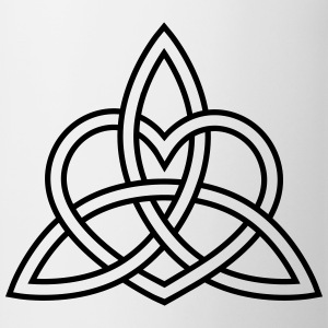 Celtic Heart Triquetra Trinity God Christ Spirit T-skjorter - Kopp