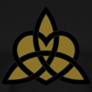 Celtic Heart Triquetra Trinity God Christ Spirit Long sleeve shirts - Men's Premium T-Shirt