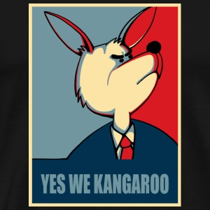 Yes we can - Yes we Kangaroo Langarmshirts - Männer Premium T-Shirt