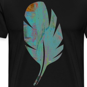 Blue and orange feather Bags & Backpacks - Men's Premium T-Shirt