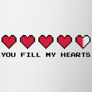 You Fill My Hearts  T-shirts - Kop/krus