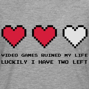 Video Games Ruined My Life Pullover & Hoodies - Männer Premium Langarmshirt