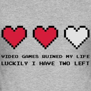 Video Games Ruined My Life Tröjor - Slim Fit T-shirt herr