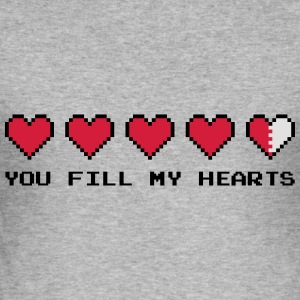 You Fill My Hearts  Sweat-shirts - Tee shirt près du corps Homme