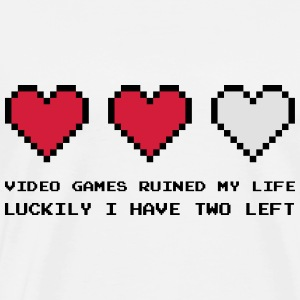 Video Games Ruined My Life Hoodies & Sweatshirts - Men's Premium T-Shirt