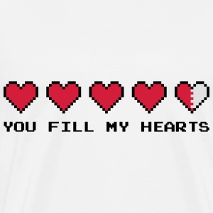 You Fill My Hearts  Sweaters - Mannen Premium T-shirt