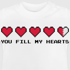 You Fill My Hearts  Skjorter - Baby-T-skjorte