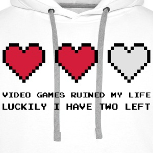 Video Games Ruined My Life Skjorter - Premium hettegenser for menn