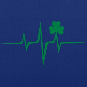 Music heart rate shamrock Patricks Day Irish Folk Camisetas - Bolsa de tela