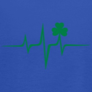 Music heart rate shamrock Patricks Day Irish Folk Magliette - Top da donna della marca Bella