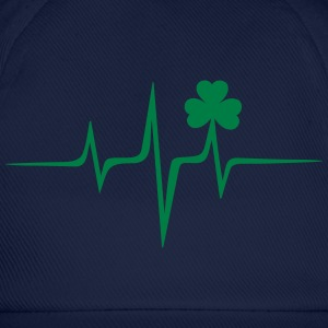 Music heart rate shamrock Patricks Day Irish Folk Magliette - Cappello con visiera