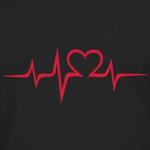 Heart rate music Dub Techno House Dance Electro T-shirts - Mannen Premium shirt met lange mouwen