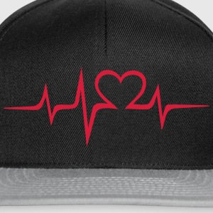 Heart rate music Dub Techno House Dance Electro T-Shirts - Snapback Cap