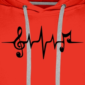 Heart rate pulse music note clef Electro Classic Tee shirts - Sweat-shirt à capuche Premium pour hommes