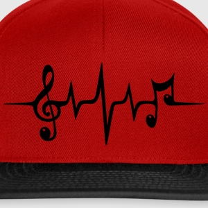 Heart rate pulse music note clef Electro Classic T-Shirts - Snapback Cap
