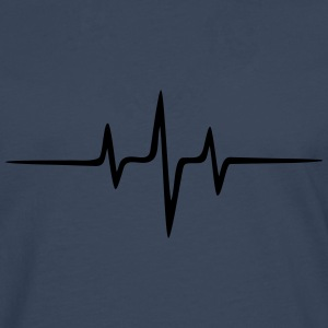 Music Heart rate Dub Techno House Dance Electro T-Shirts - Men's Premium Longsleeve Shirt