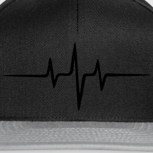 Music Heart rate Dub Techno House Dance Electro Camisetas - Gorra Snapback