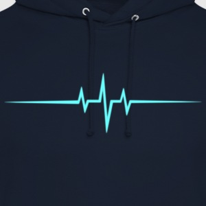 Music Heart rate Dub Techno House Dance Trance T-shirts - Luvtröja unisex