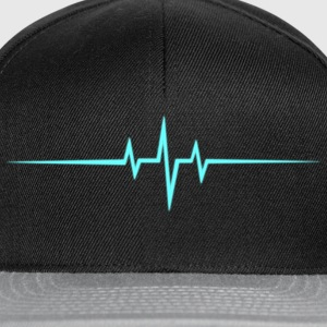 Music Heart rate Dub Techno House Dance Trance T-Shirts - Snapback Cap