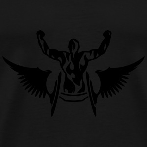 Athlete in a wheelchair with wings  Hoodies - Men's Premium T-Shirt